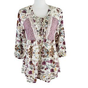 ABSOLUTELY FABULOUS Floral Blouse Size Small